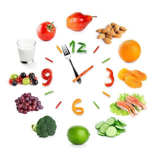 reloj y comida