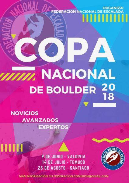 Afiche Copa Nacional de Boulder 2018