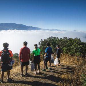 En marzo se realizó la primera sesión de Plogging en el cerro El Carbón