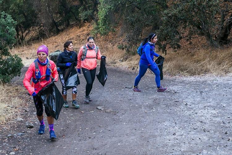 Las Temperaturas bajo cero no fueron impedimento para que más de 30 corredores participaran de la actividad