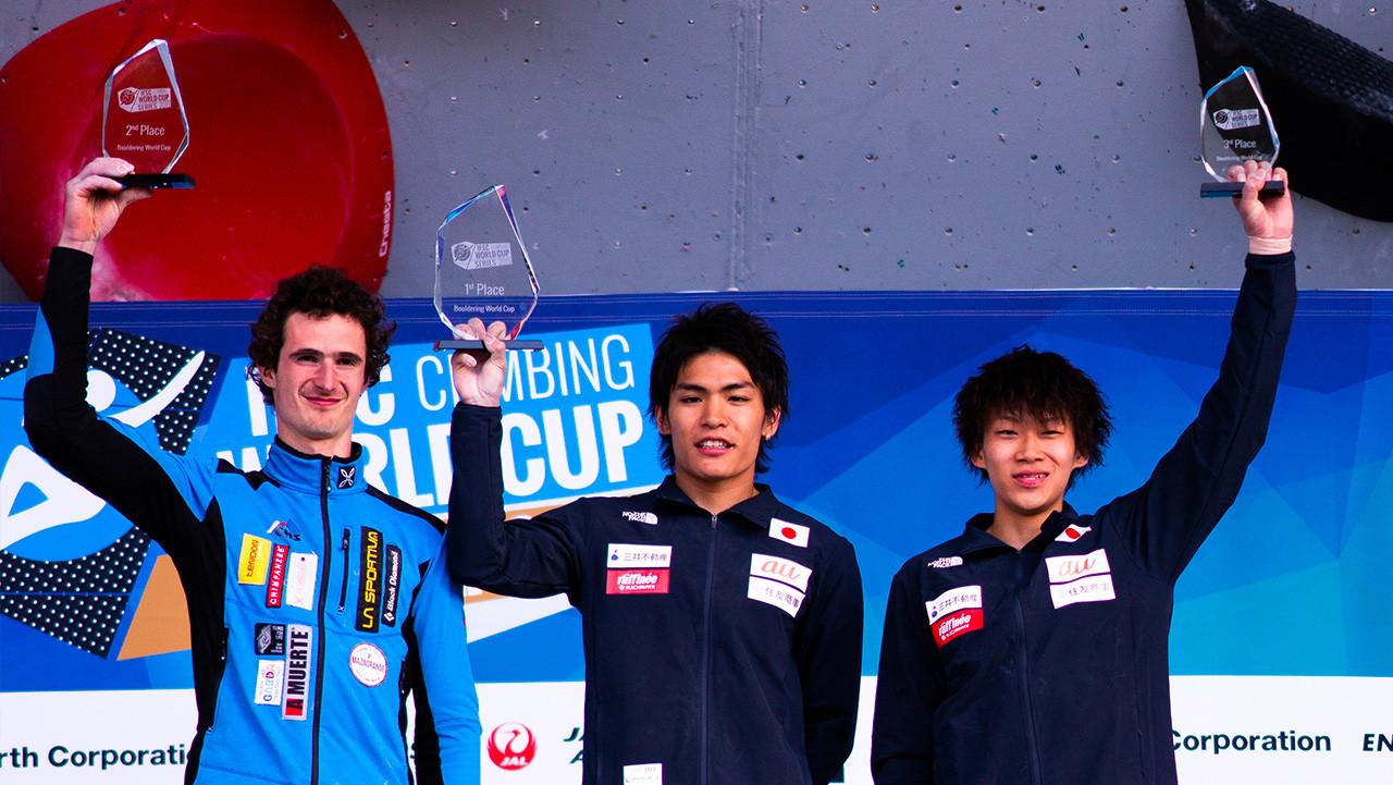 IFSC_World_Cup_2019_Bouldering_men_podium